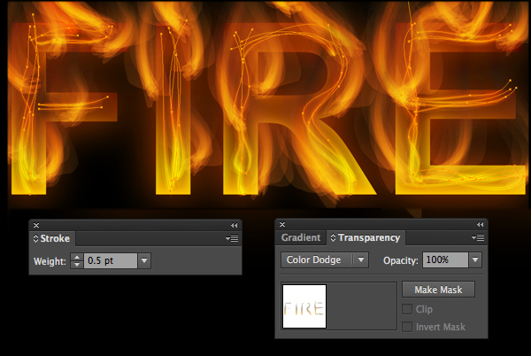 How to create fire text effect in 10 minutes in Illustrator 18