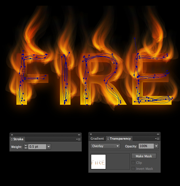 How to create fire text effect in 10 minutes in Illustrator 19