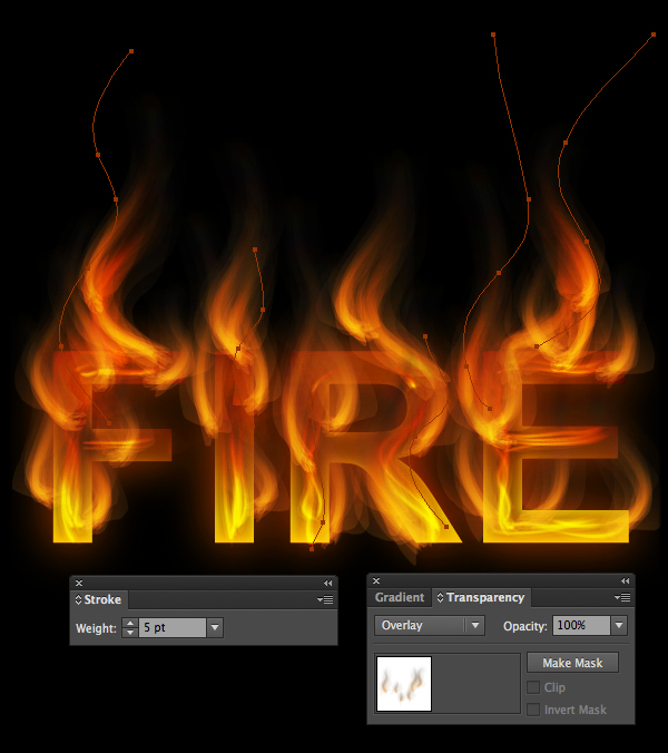 How to create fire text effect in 10 minutes in Illustrator 20