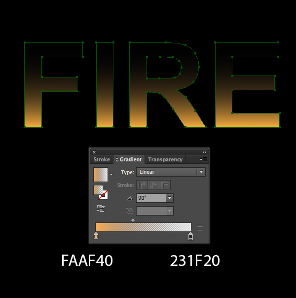 How to create fire text effect in 10 minutes in Illustrator 3