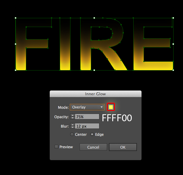 How to create fire text effect in 10 minutes in Illustrator 4