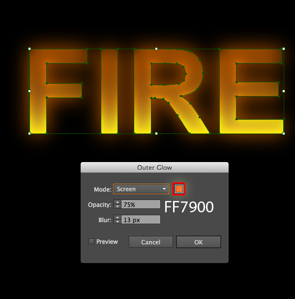 How to create fire text effect in 10 minutes in Illustrator 5