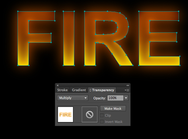 How to create fire text effect in 10 minutes in Illustrator 6