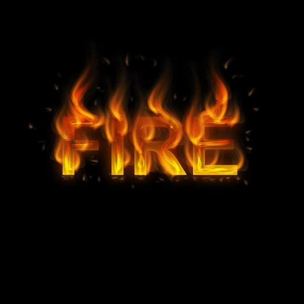How to create fire text effect in 10 minutes in Illustrator