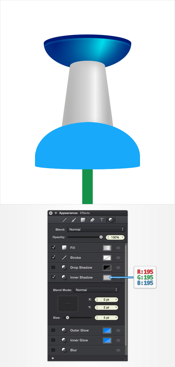 How to Create a Pin Icon in iDraw for Mac 20