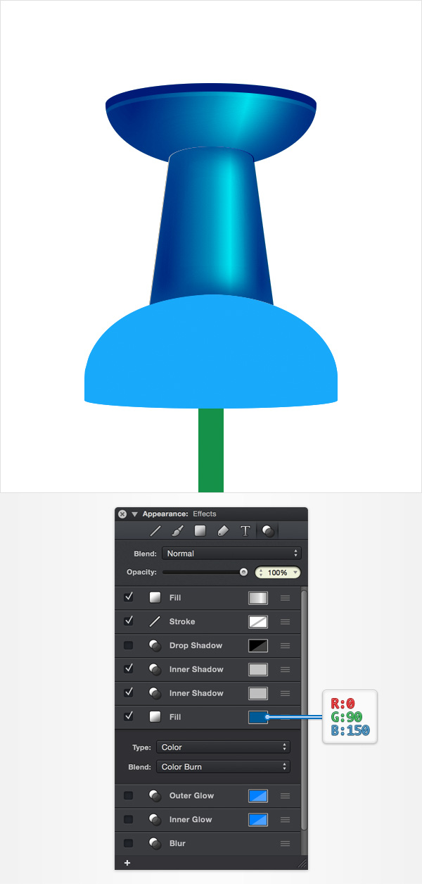 How to Create a Pin Icon in iDraw for Mac 22