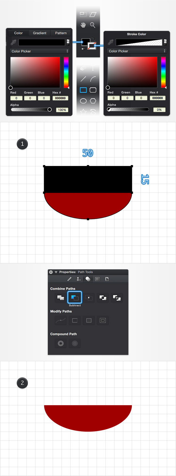 How to Create a Pin Icon in iDraw for Mac 3