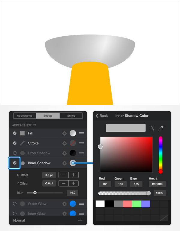 How to Create a Pin Icon in iDraw for iPad 15