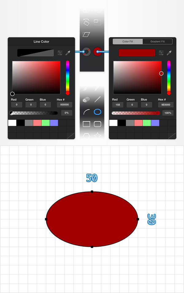 How to Create a Pin Icon in iDraw for iPad 2