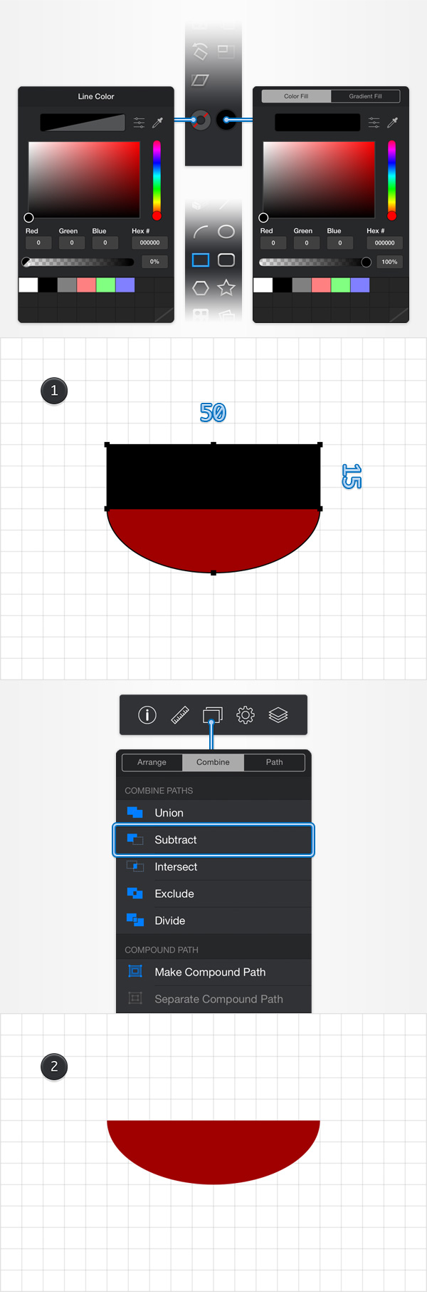 How to Create a Pin Icon in iDraw for iPad 3