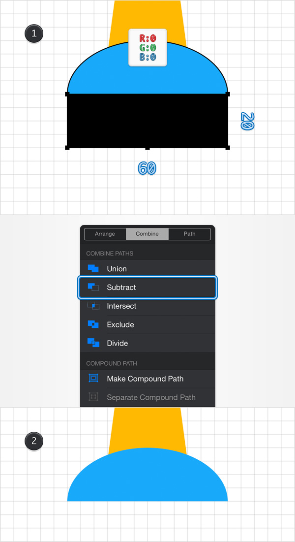How to Create a Pin Icon in iDraw for iPad 8