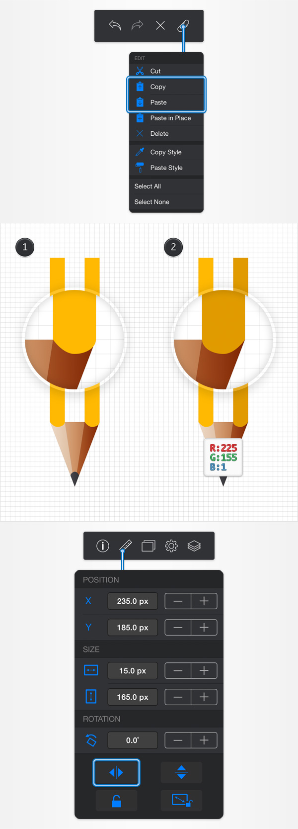 How to Create a Pencil Illustration in iDraw for iPad 12