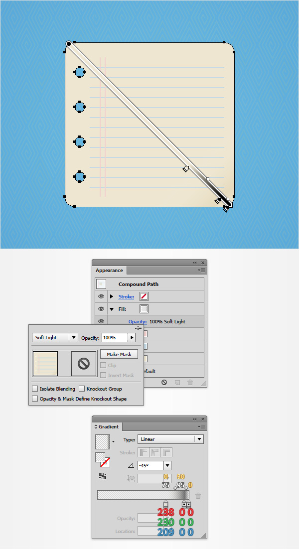 How to Create a Notes Icon in Adobe Illustrator 10