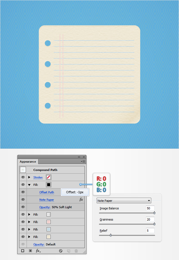 How to Create a Notes Icon in Adobe Illustrator 11