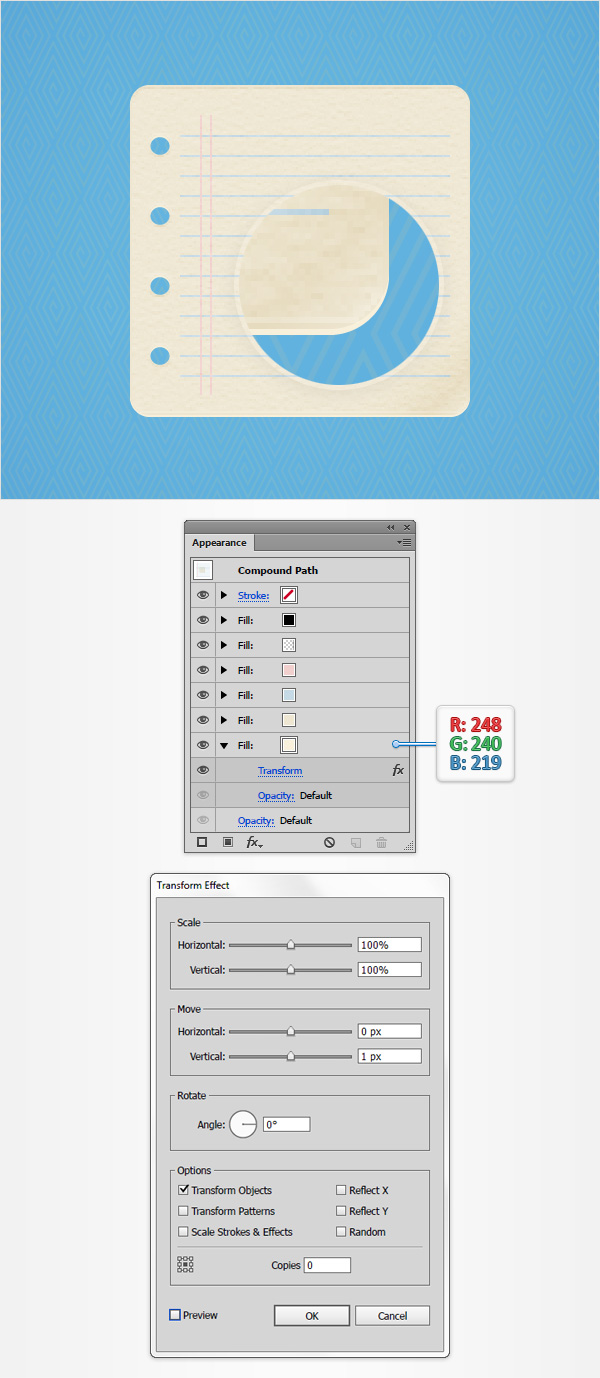 How to Create a Notes Icon in Adobe Illustrator 12