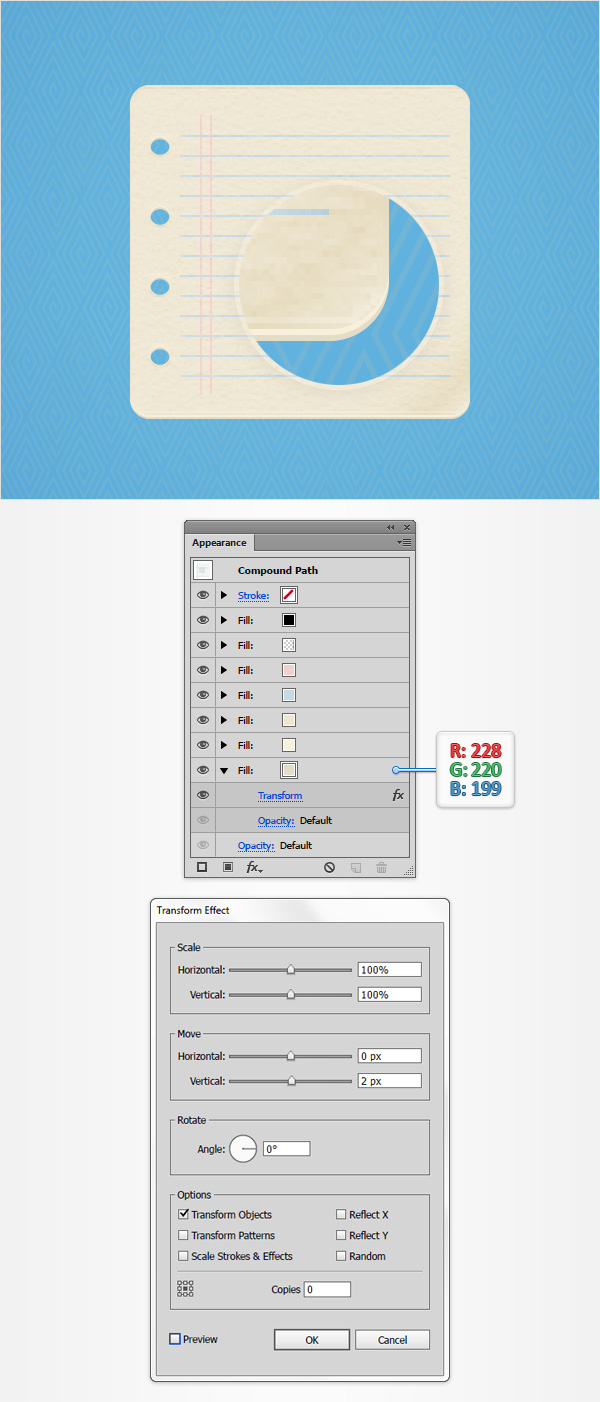 How to Create a Notes Icon in Adobe Illustrator 13