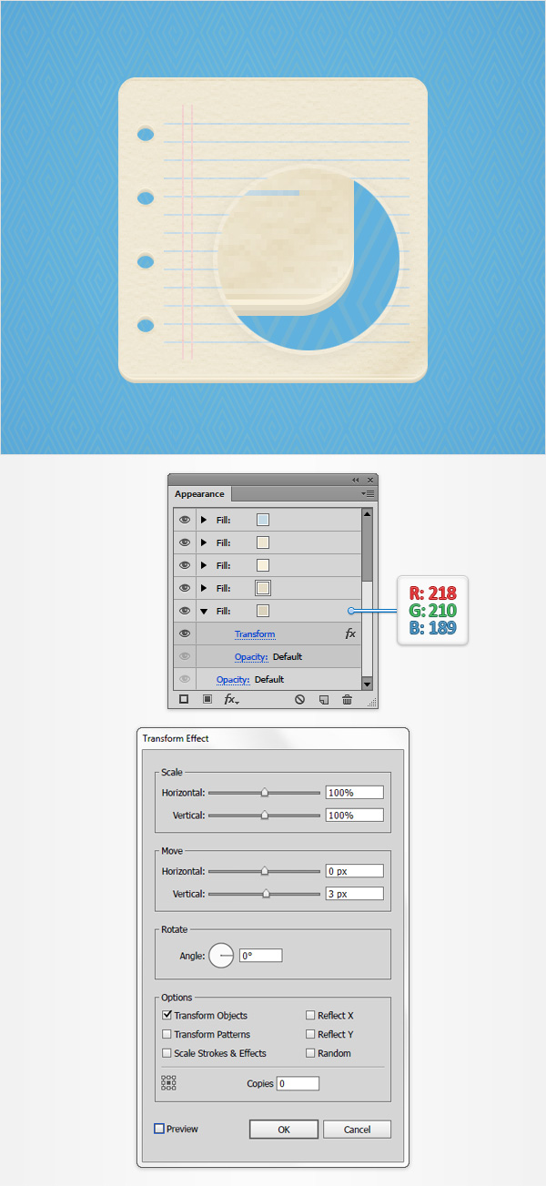 How to Create a Notes Icon in Adobe Illustrator 14