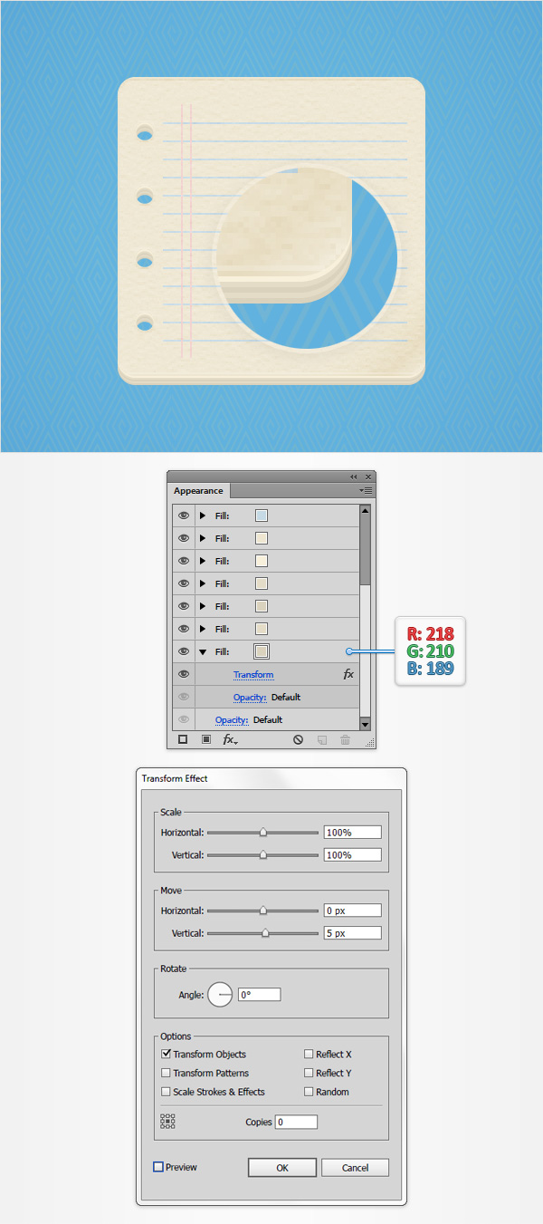 How to Create a Notes Icon in Adobe Illustrator 16