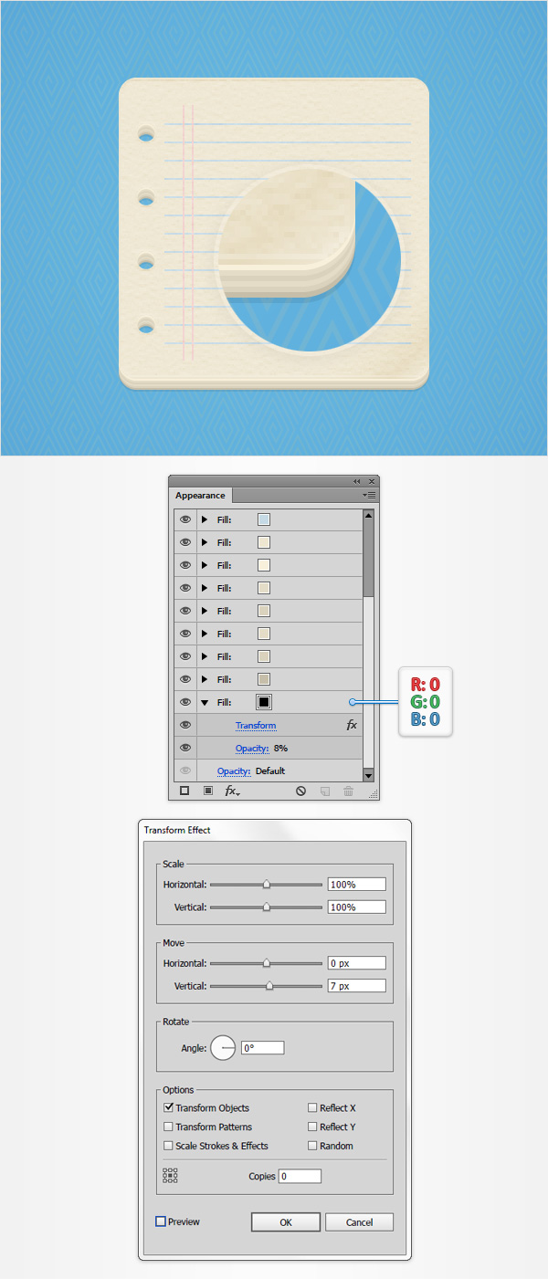 How to Create a Notes Icon in Adobe Illustrator 18
