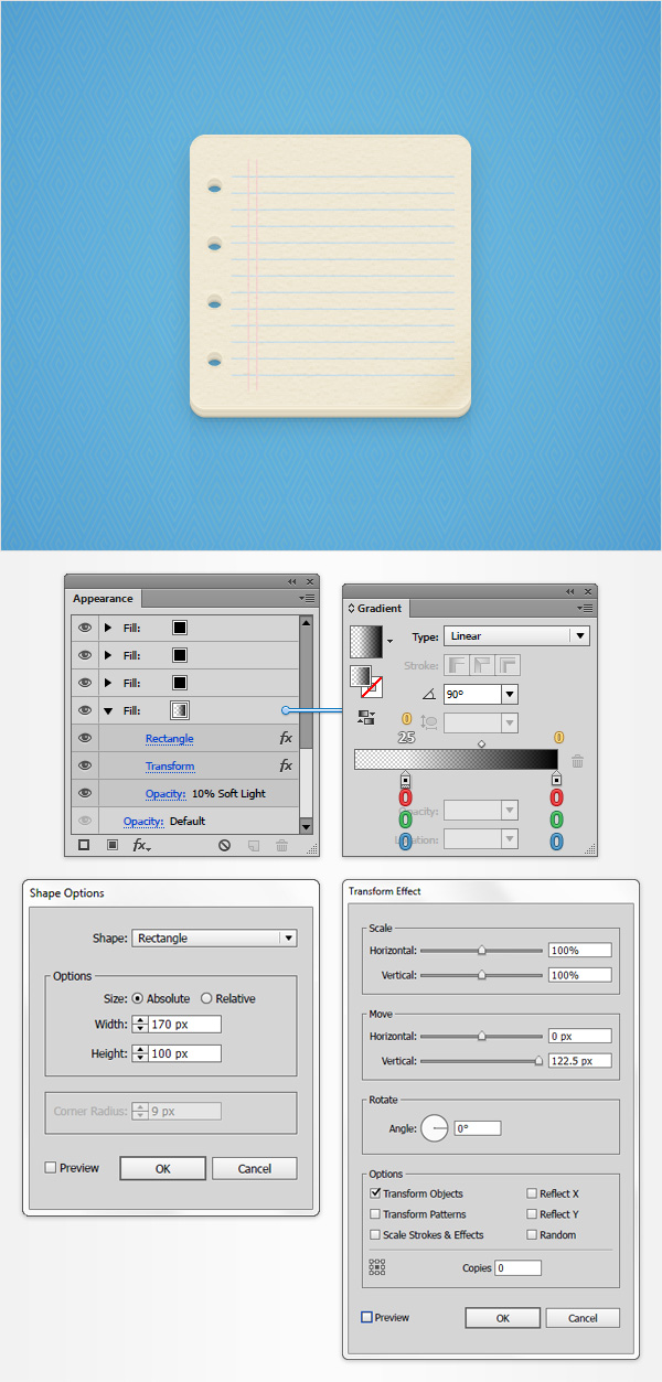 How to Create a Notes Icon in Adobe Illustrator 21
