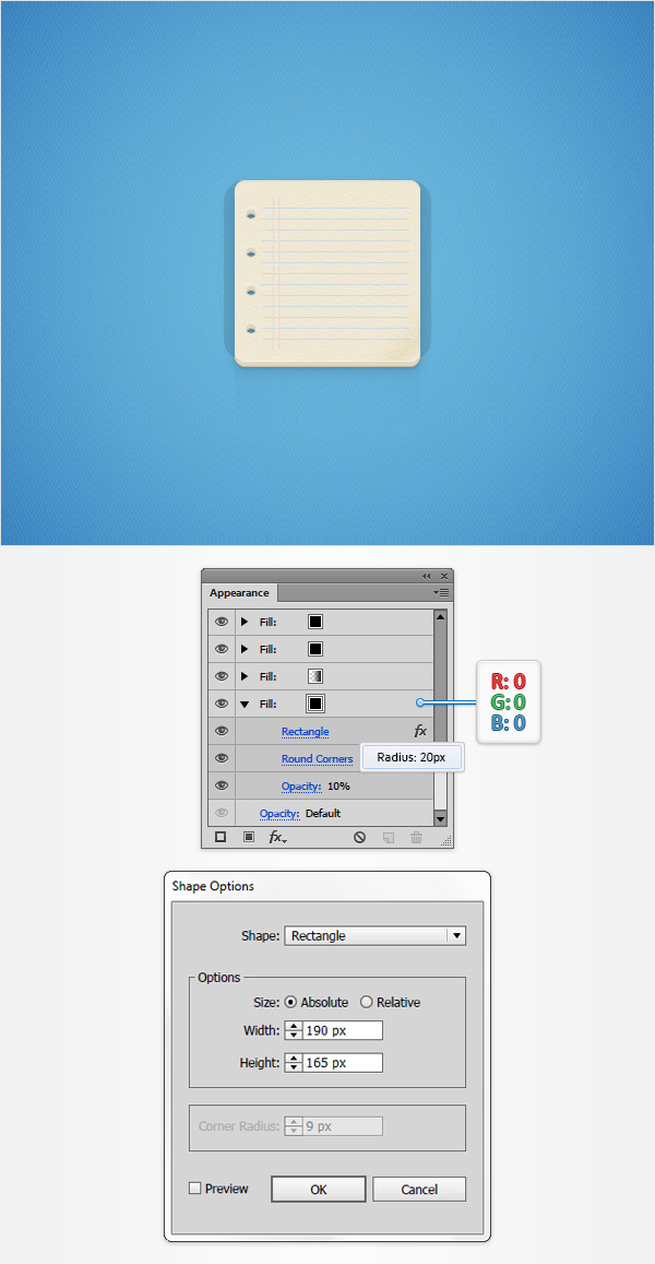 How to Create a Notes Icon in Adobe Illustrator 22