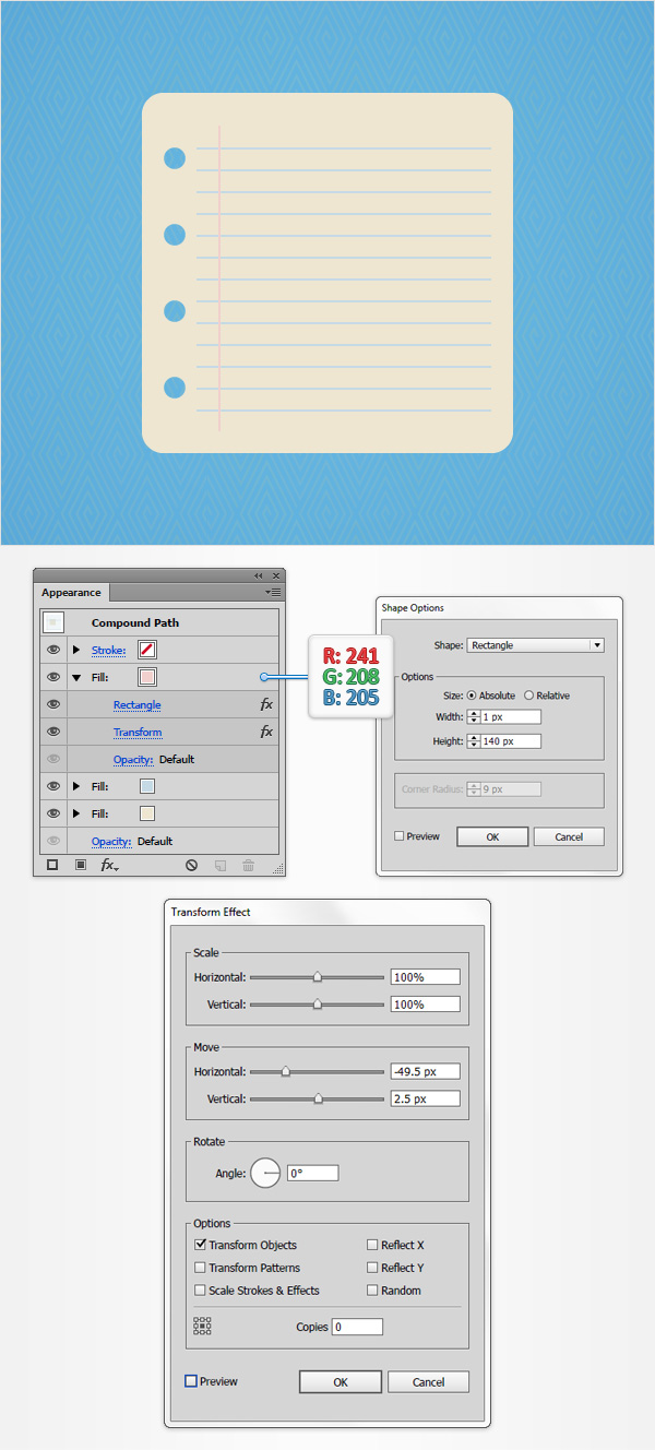 How to Create a Notes Icon in Adobe Illustrator 8