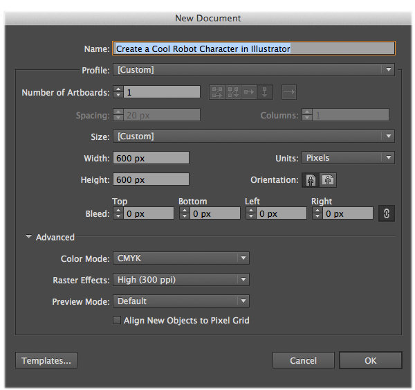 Create a Cool Robot Character in Illustrator 1