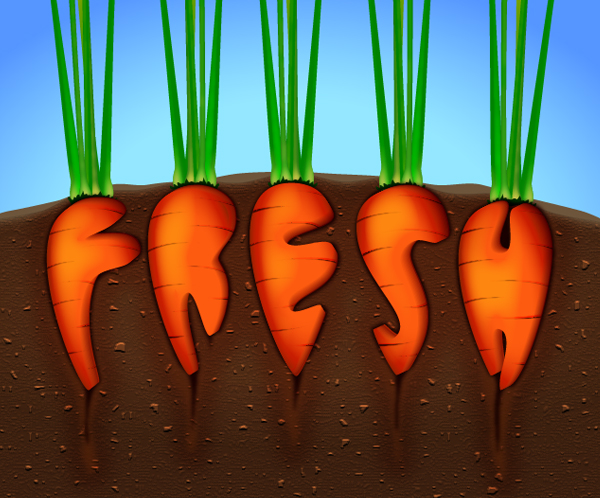 Create a Carrot Text Effect in Adobe Illustrator