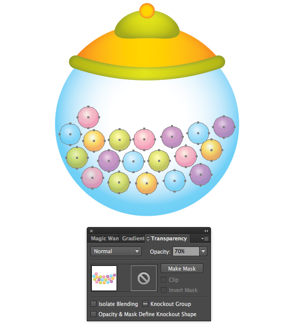 How to Draw Gumball Machine in Illustrator 41