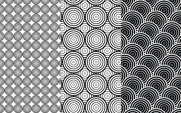 Vector Patterns - Mono Circles