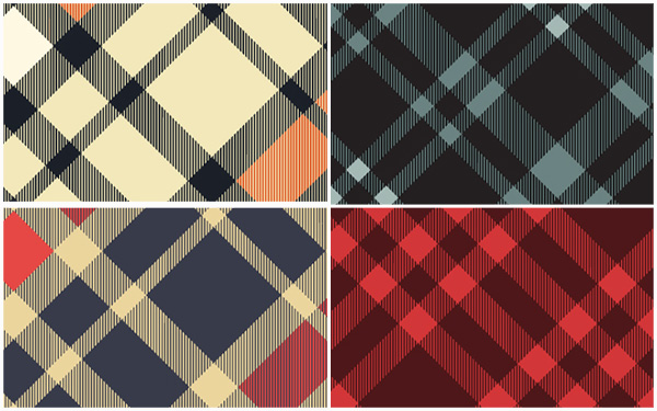 25 Woven Plaid Swatches