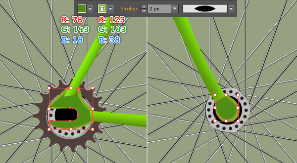 Create a Racing Bicycle in Adobe Illustrator 53