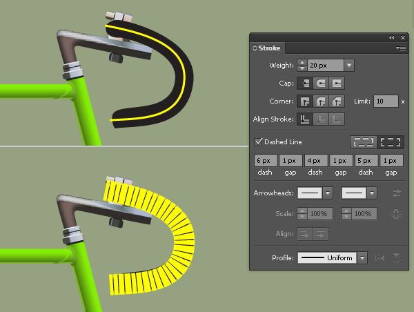 Create a Racing Bicycle in Adobe Illustrator 78