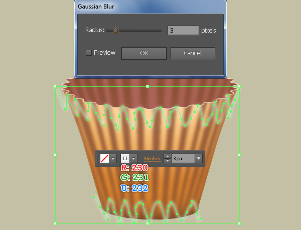 Create a Cupcake in Adobe Illustrator 11