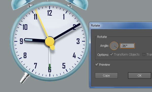 Create an Alarm Clock in Adobe Illustrator 111