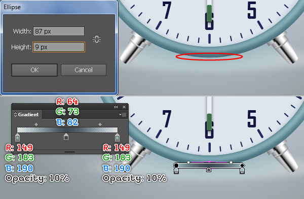 Create an Alarm Clock in Adobe Illustrator 121