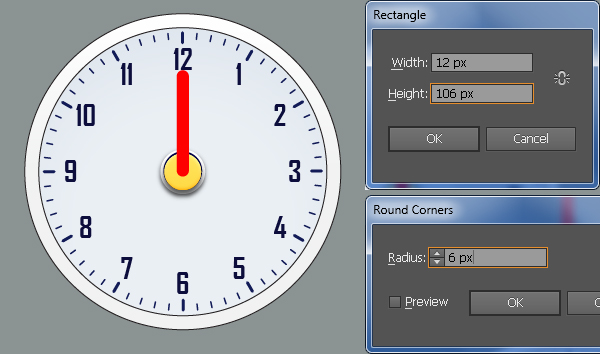 Create an Alarm Clock in Adobe Illustrator 30