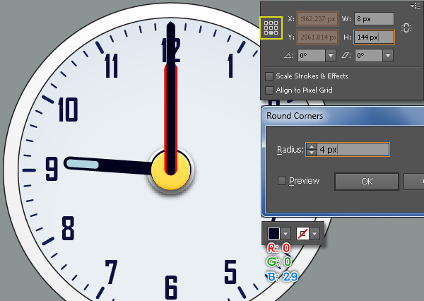 Create an Alarm Clock in Adobe Illustrator 35
