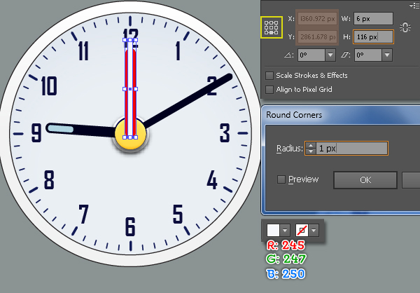 Create an Alarm Clock in Adobe Illustrator 37