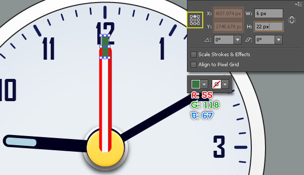 Create an Alarm Clock in Adobe Illustrator 38