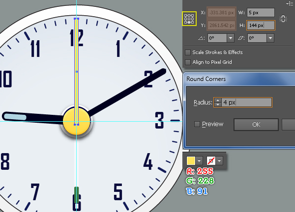 Create an Alarm Clock in Adobe Illustrator 40