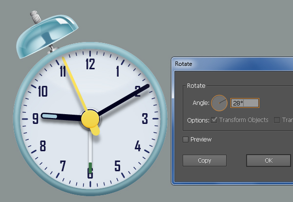 Create an Alarm Clock in Adobe Illustrator 82