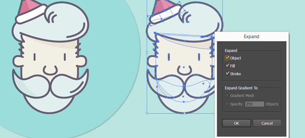 How to Create a Santa Icon Using Adobe Illustrator 27