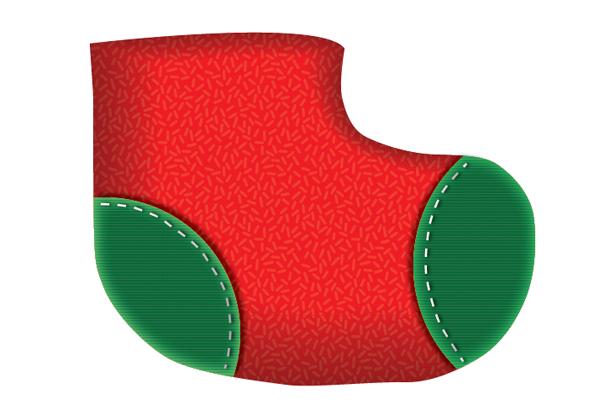 Create a Cute Christmas Sock in Adobe Illustrator 15