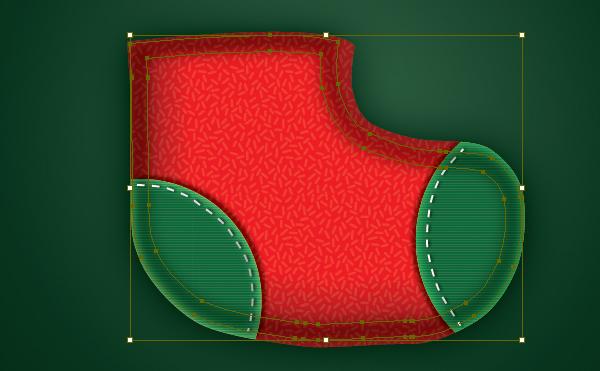 Create a Cute Christmas Sock in Adobe Illustrator 19