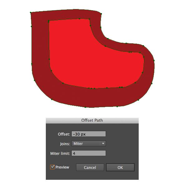 Create a Cute Christmas Sock in Adobe Illustrator 3