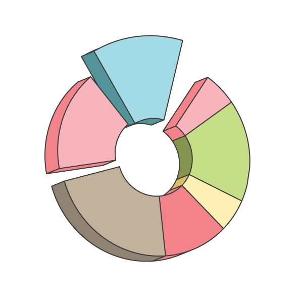 How to create a Pie Chart illustration using Adobe Illustrator 11
