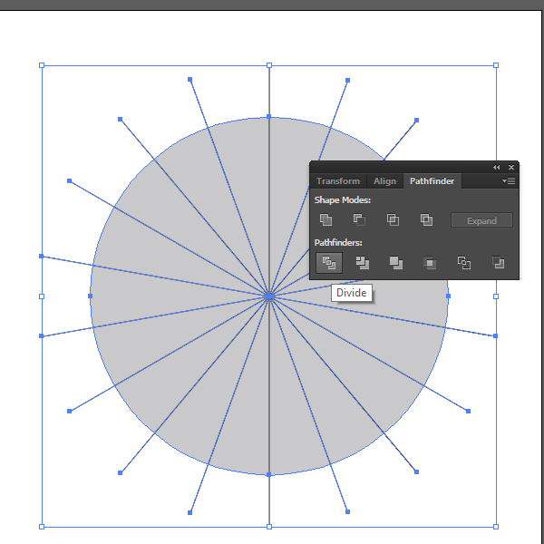 How to create a Pie Chart illustration using Adobe Illustrator 4