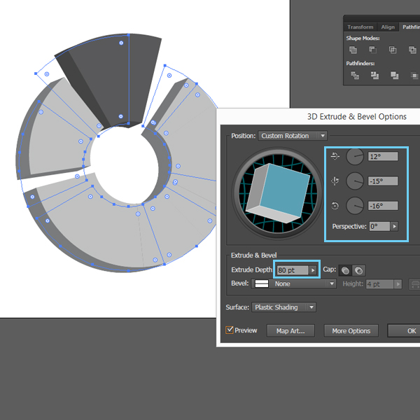 How to create a Pie Chart illustration using Adobe Illustrator 10