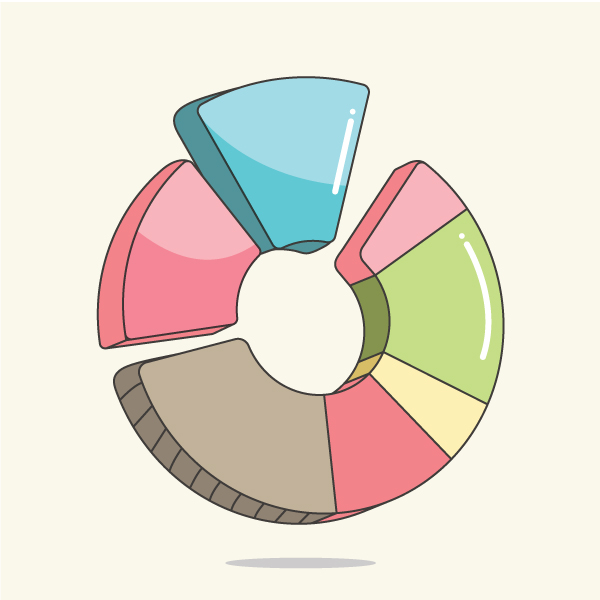 How to create a Pie Chart illustration using Adobe Illustrator